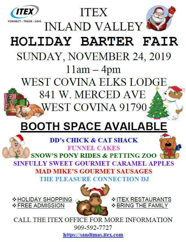 ITEX HOLIDAY BARTER FAIR